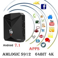 Amministratore originale di V9 Android 7.1 TV Amlogic S912 Octa Core 2GB DDR3 8GB FLASH 2.4GHz WiFi 4K Streaming Media Player