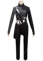 Wholesale yuri costume - Kukucos YURI!!! on ICE Katsuki Black Performance Cosplay Costume Suit For Skate Hobby People Halloween Costume