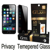 Wholesale G5 Screens - For iphone 7 6s 6 plus 5 5s Samsung on5 J7 LG K10 G6 G5 LS775 Privacy tempered glass Anti-spy screen protector