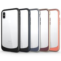 Wholesale Hard Clear Back Bumper - For Iphone X Case Clear Hybrid Soft TPU Hard PC Bumper Back Cover For Samsung iphone x 8 8plus