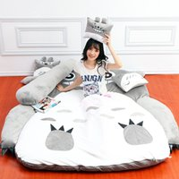 Wholesale Giant Lilo and Stitch Plush Totoro single Foam Beanbag Cartoon Mattress Cushion Plush Pad Tatami Bed Sleeping Bag