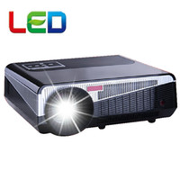 Wholesale video projector prices - Wholesale-5500 Lumens 1280*800 support 1080p Home theater native HD Led LCD Video Projector HDMI USB for Home Theater with cheaper price