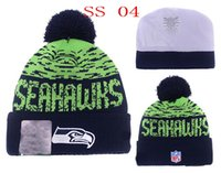 Wholesale Cheap Knitted Beanies Pom - Free Shipping Seahawks Beanies Winter High Quality Football Beanie For Men Women Skull Caps Skullies Pom Knit Hats Cheap Sport Hat