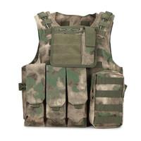 Wholesale Men Satin Waistcoat - Wholesale&Retail Amphibious Tactical Molle Waistcoat Combat Assault Plate Carrier Vest Lightweight Oxford Durable Camouflage Vest