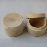 Wholesale Wooden Craft Boxes - Mini Round Wooden Wedding Ring Jewelry Trinket Box Wood Storage Container Case Wooden Craft Box Unique Trinket Storage Box