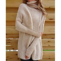 Wholesale Dolman Sleeve Sweater L - Hot knitwear knitted sweater Femmes Chandail Oversize Manches Batwing Pull tricoté Tops Cardigan Outwear Women's Knits Tees knitting shirt