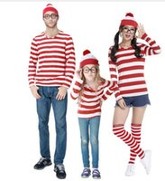 Wholesale Boys Fancy Dress Years - Waldo Cartoon Stag Night Outfit Adult Mens Fancy Dress Costumes halloween costume for Boys and Girls cosplay