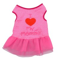 Wholesale Cute Letter Printed Small Dog Tops Dog Cat Puppy Clothes T Shirt Dress Pet Costumes