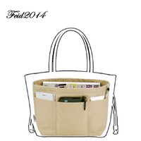Wholesale Travel Bag Inserts - Purse Oganizer Insert Travel Bag Organizer Women Organizer Pouchfor Brand Bags  Women toiletry Bags 4 Size,4 colors(Rose,Brown,Black,Coffee)
