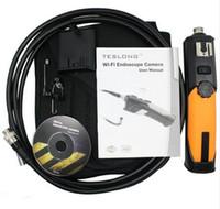 Wholesale Handheld Video Inspection - 5pcs DHL free Handheld 720P Wireless Wifi Endoscope Borescope Video Inspection 2.0 Mega Pixels Camera Soft Tube 8.5mm Diameter 1 Meter