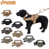 Wholesale Dog Accessories Harness - 9 Colors Pet supplies dog accessories Dog Harness Outdoor equipment Military dogs Harnesses 1050D Nylon Strap Vest Collar DHL Free Shipping