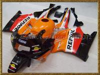 Wholesale Honda Cbrf2 - Orange red black ABS fairing kit for CBR600 F2 1991 1992 1993 1994 CBR600F2 CBRF2 91 92 93 94 + windscreen #83j4f