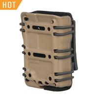 ingrosso riviste airsoft-Tactical MAG Pouch PER 5.56mm Airsoft Magazine Pouches Nylon Nero Tan Color per ripresa esterna CL7-0078
