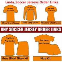 Wholesale Black White Kids Clothing - Soccer Jersey Order Link Free Shiping Cost Linda Customers Payment Link Football Clothes Man Woman Kids Jackets Tracksuits Thailand Quality