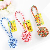 Wholesale Cheap Toys For Pets - Dog Cotton Colorful Ball Cheap Pet Toy Cat Dog Chew Teethers For Cleaning Teeth Good Quality For Small Middle Pets Mix Color 10PCS LOT