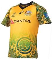 Wholesale Australian Souvenirs - Australia rugby jerser 2017 The Australian souvenir edition football shirt jerseys Top Thailand quality 3A Australia rugby shirt free shipp