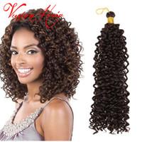 Wholesale Latch Hook Wholesale - New Fashion Freetress Crochet Braid Hair Water Wave Bulk 14''30roots pack Latch Hook Braiding Hair Crochet Braids Hair Extension