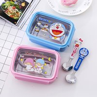 Wholesale KT machine cat cute children large capacity stainless steel children s lunch box sealed cartoon box