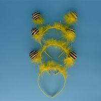 Wholesale Fancy Dress Bee - Funny Bee Ant Antenna Headband Bug Alien Ball Head Band Children Halloween Fancy Dress