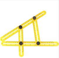 Wholesale Wholesale Plumbing Tools - 50Pcs Angle-izer Angle Measure Multi-Angle Ruler Template Tool Measures All Angles Forms Ruler Template Tool Measuring Instrument