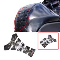 Wholesale 3d Motorcycle Tank - Hot Motorcycle Accessories 3D Skull Carbon Fiber Tank Decal Gas Oil Fuel Pad Sticker Protector