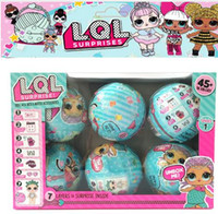 6 pz / set LOL Bambole Sorpresa Ball Change Egg Dress Up Acqua Action Figure Rimovibile Bambola Giocattoli Divertenti per le Ragazze Regali KKA3530