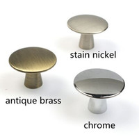 Wholesale Nickel Cabinets - 40mm modern simple silver  chrome stain nickel drawer tv cabinet knobs pulls antique brass drawer kitchen cabinet door handles