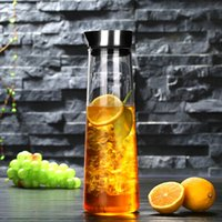 Wholesale Tea Glass Set China - 1000ml empty glass bottles stainless steel lid Herbal tea glass set high borosilicate glass cooker heat-resistant kettle cup