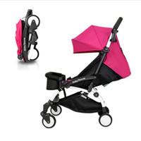 Wholesale Newborn Car Seat Safety - Wholesale- Free shipp Baby Stroller Newborn Infant Sleeping Basket Baby Safety Car Seat Baby Carriage Easy Folding Pram