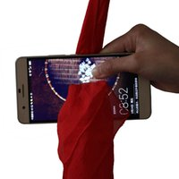 2017 New Magic Tricks Dynamo Scarf à travers le téléphone Close Up Magie Funny Silk Thru Phone Trick Toys for Magicians