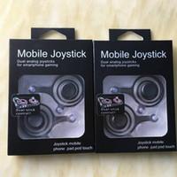 xbox analog toptan satış-Fling mini Mobil Joystick Çift analog joystick Akıllı Klip için samrtphone gaming iPad pod Perakende Kutusu ile Dokunmatik iPhone 7