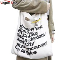 Wholesale American Apparel Canvas - Wholesale-Vogue Star European style fashion trend Hot Selling 2016 American Apparel Canvas Shoulder Bag Messenger shopping Bag YA40-155