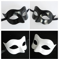 Wholesale Masquerade Masks White Purple - Half Face Facial Mask Celebration Halloween Party Carnival Masquerade Ball Men Retro Roman Military Robot Faces Cosplay Masks