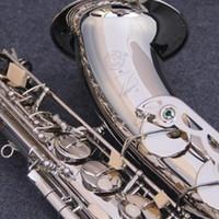 Wholesale nickel wound - High quality Selmer STS-R54 B flat tenor saxophone wind instrument white nickel silver Tenor saxophone performance