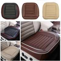 Wholesale Auto Chair Cushion - Auto Interior Pad Mat 50x50cm PU Leather Car Cushion Seat Chair Cover Black Beige Coffee Brown