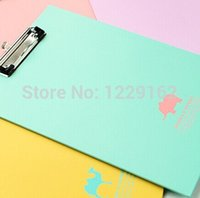 Wholesale Animal Paper Clips - Wholesale- New arrival fashion A4 paper clip board Cute animal shadow clipboard with hook portable writing pad Office supply stationery