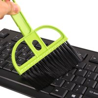 3 cores Mini Teclado Moda Computadores Networking Desktop Teclado Plástico Limpeza Brush Cleaners Dustpan Pequena Vassoura 2835