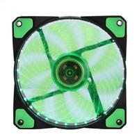 ventilador de 12v para enfriamiento. al por mayor-Ventiladores silenciosos LED Disipador de calor radiante Ventilador de enfriamiento para computadora PC Disipador de calor Ventilador de 120 mm 3 luces 12V Luminoso 3Pin 4Pin Plug