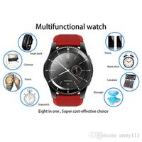 Wholesale Tft Wrist Monitor - New G8 Smart Watch 1.30 inch TFT Full IPS Screen MTK2502 Bluetooth Heart Rate Monitor Smartwatch