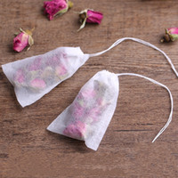 Wholesale empty tea bag wholesale - Disposable Tea Bag Non Woven Fabric Herb Loose Teabag With String Hanging Teas Safe Empty Bags White 8 2jk B