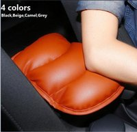 Wholesale Leather Car Cushions - 2017 Car Leather Central Armrest Console Pad Cover Cushion Soft for VW Volkswagen Golf  Polo  Passat  Tiguan  SAGITAR  JETTA CC Beetle