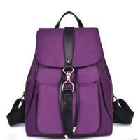 Wholesale lap bags - New Waterproof Backpack Unisex Bag Casual Women Men School Backpack Brand Nylon rucksack college wind Fashion Lap top ladies backpack
