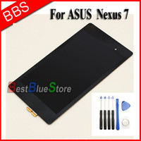 Atacado- Para ASUS Google Nexus 7 2nd Gen 2013 LCD Digitizer Touch Screen Assembly + Free Tools, New Frete grátis !!!