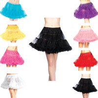 Wholesale Cosplay Mini Skirt - 2017 New Mini Skirt Organza Colorful Lolita Cosplay Petticoat Black Red White In Stock Underskirt Party Dress Homecoming Gown Free Size