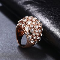 Wholesale Weding Rings - ROXI Ring Good Quality Genuine Crystal Rose Gold Color Fashion Ring For Women Weding Gift Party Body Jewelry For Women