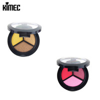 Wholesale Earthing Products - Professional Eyeshadow Disk With Three Color Pearl Earth Color For Nude Eyeshadow Cosmetic Product