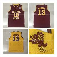 maillot de basketball achat en gros de-NCAA Top qualité ASU # 13 James Harden Basketball Jersey Hommes Sports Wear brodé Logos Chemises de sport Pas Cher