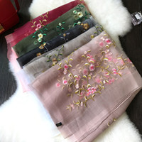Wholesale Embroidery Silk Scarves - Big star with the classic hand embroidery summer beach around both of fashion color changing of the seasons with shawls scarf Christmas gift