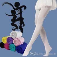 bale külotlu çorap toptan satış-Bebek Çorap 18 Renk Moda Kızlar Renkler Çocuklar Bale Tayt Külotlu Çorap Dans Çorap
