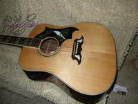e-gitarre china freies verschiffen großhandel-Kundenspezifische natürliche akustische E-Gitarre aus China Guitar Factory kostenloser Versand